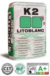 LITOBLANC K2 - Экстрабелый клей для мозаики