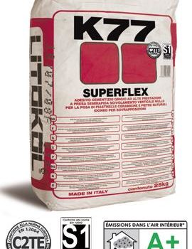 SUPERFLEX K77 - высокоэластичный цементный клей