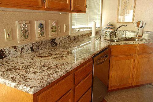 Качественные столешницы из мрамора для кухни, ванной,