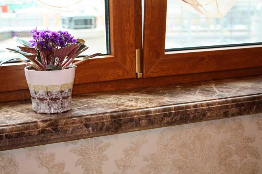 Гранитные подоконники: преимущества камня в интерьере дома и квартиры
